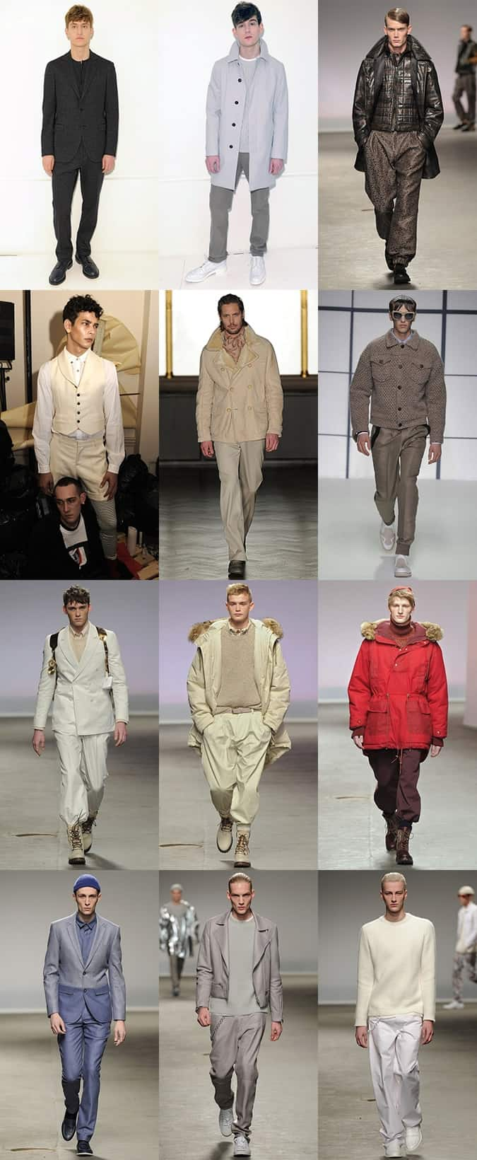 Tonal Outfits on the LC:M AW13 Runways