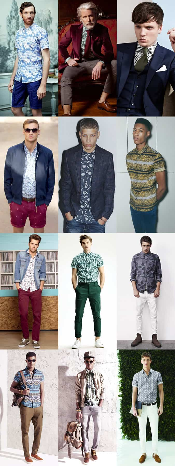 Men's Printed Shirt Lookbook
