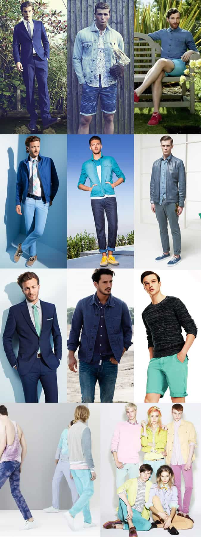 Men's Blue Lookbook SS13