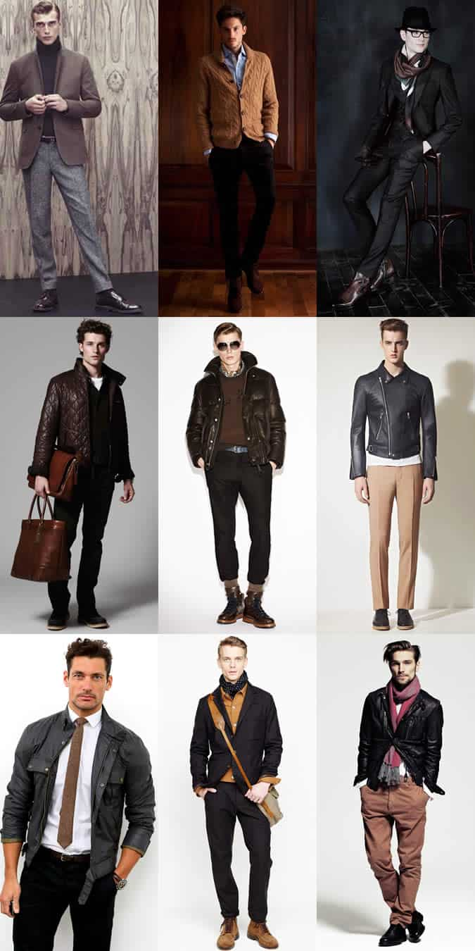 Men's Black With Brown Lookbook