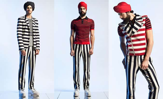 Jean Paul Gaultier Men's Stripes SS13 Runway
