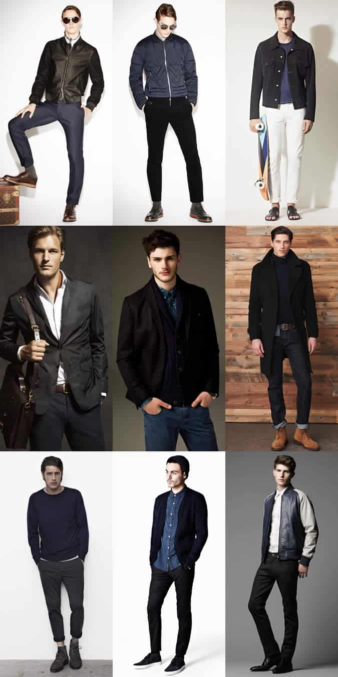 Men's Navy and Black Lookbook