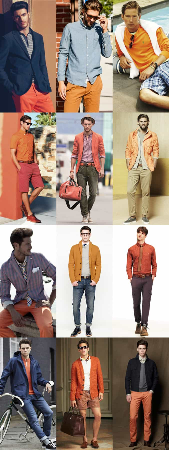 Men's Orange Lookbook Inspiration