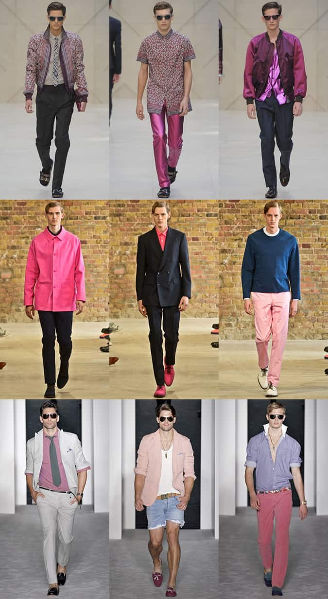 Men's Pink Clothing On The Runways