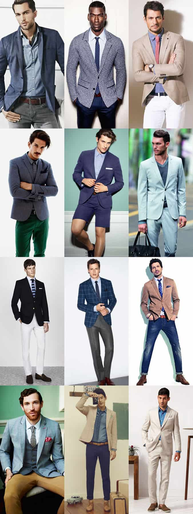 Men's Smart-Casual Office Dress Code Lookbook - Spring/Summer Inspired