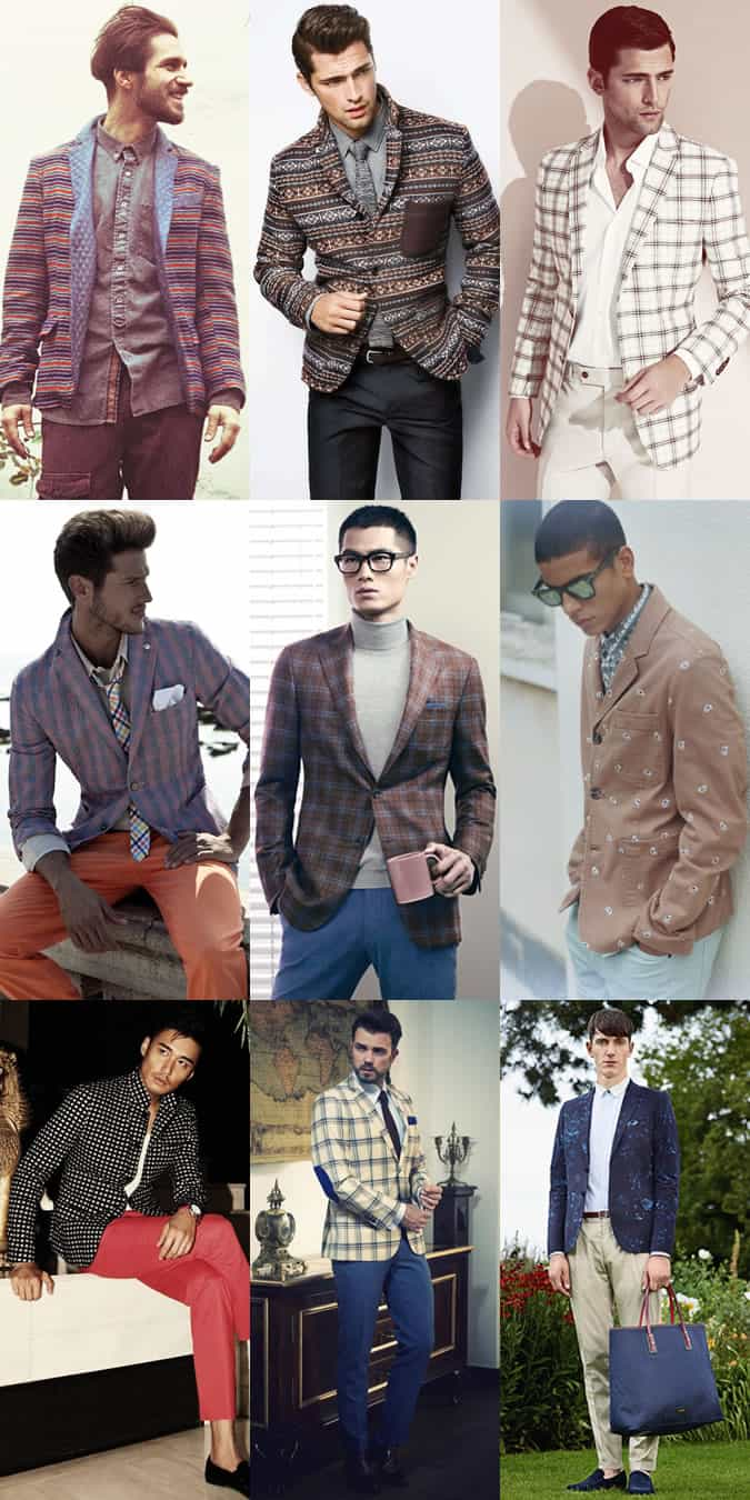 Men's Printed Blazer Lookbook