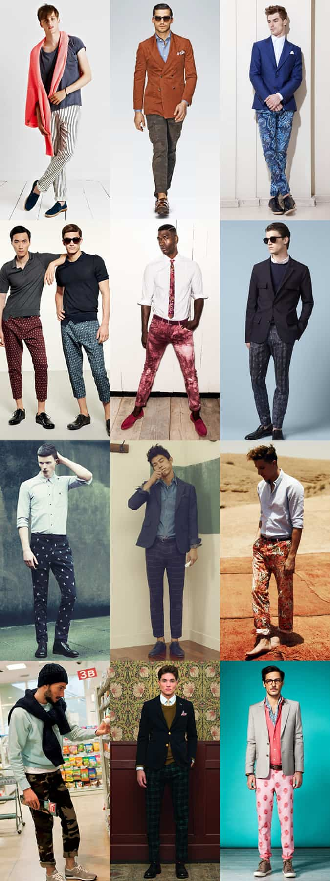 Men's Printed Trousers Lookbook SS13