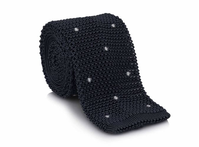Hackett Knitted Dot Tie