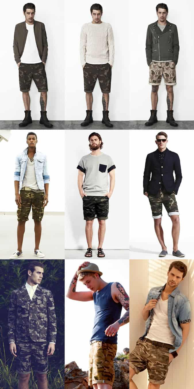 Men's Camouflage Shorts Lookbook