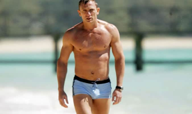 Daniel Craig In Casino Royale Wearing Grigioperla Trunks