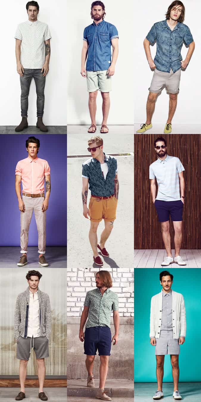 Men's Spring/Summer Short-Sleeved Shirts Outfit Inspiration