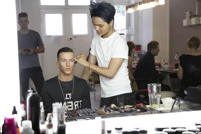 FashionBeans Deputy Editor Luke Todd In Hair & Make-up