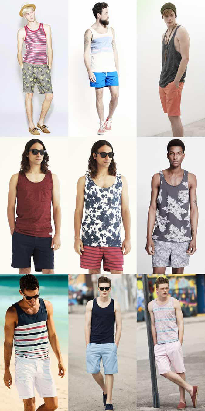 Men's Short and Vest Combinations