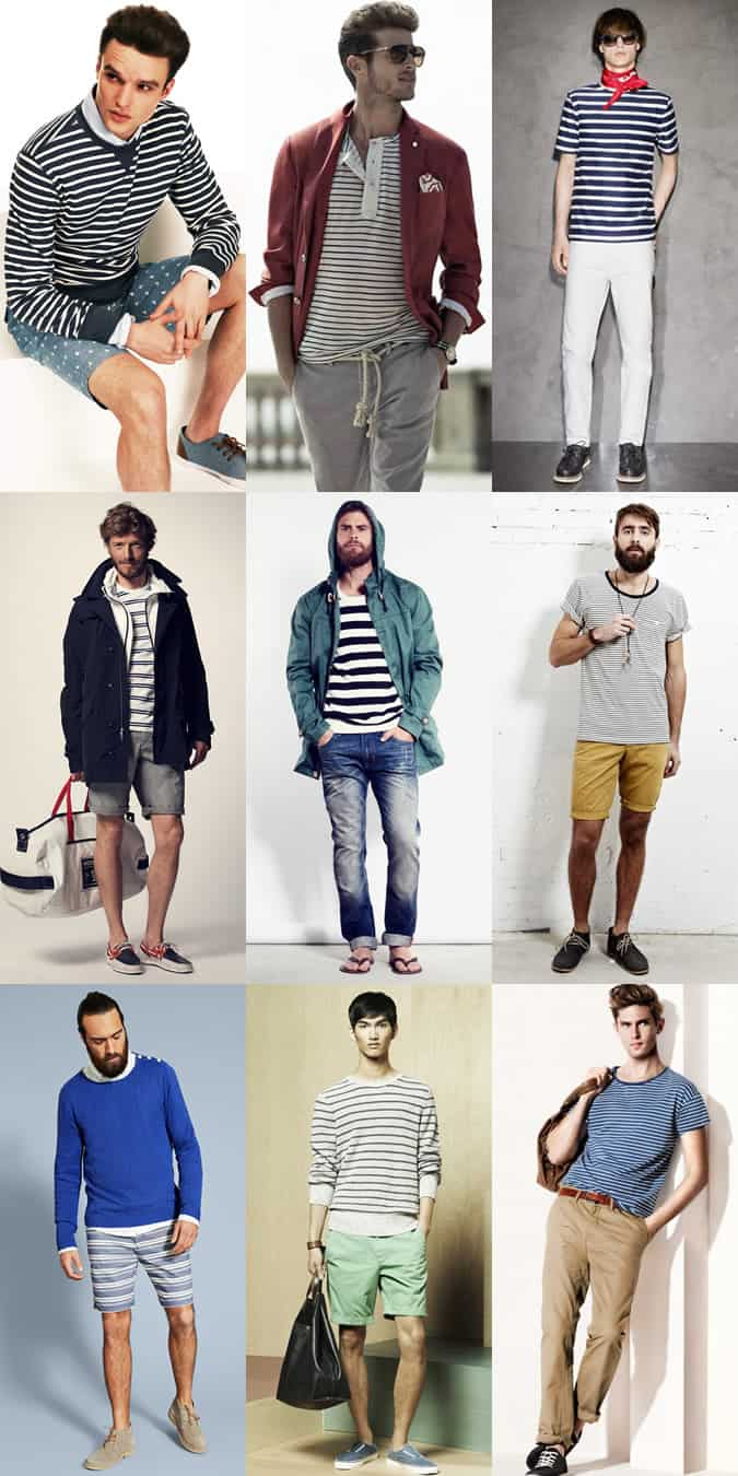 Men's Breton Stripes Lookbook