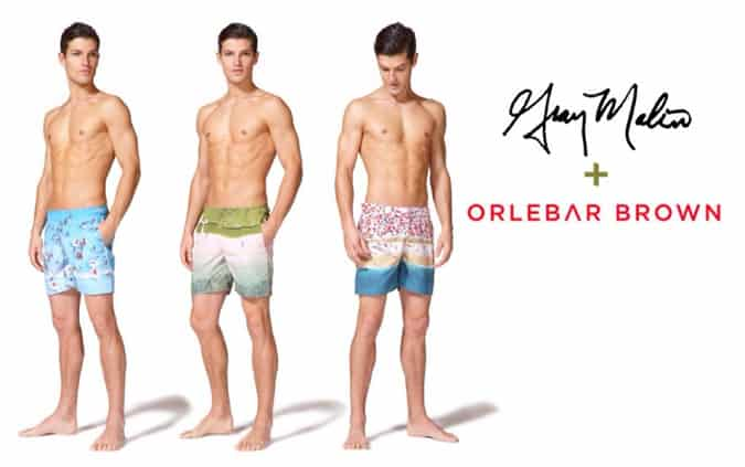 Orlebar Brown x Gray Malin swim shorts