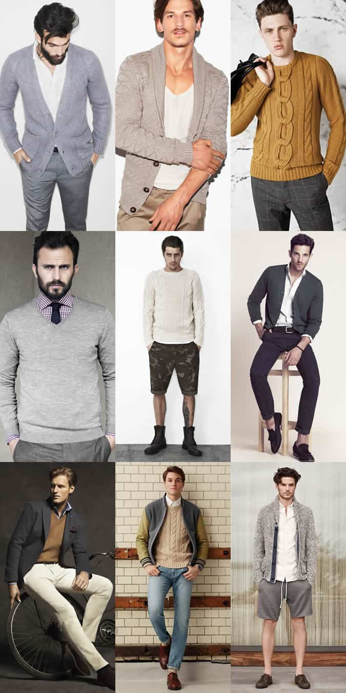 Short Men's Lookbook Inspiration - Knitwear