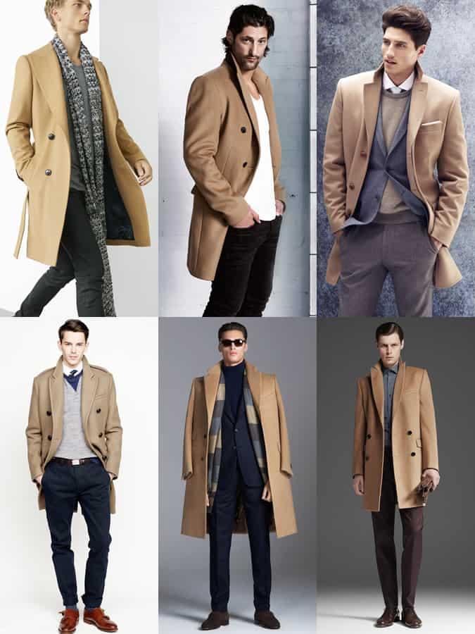 Men's Beige Overcoat Lookbook