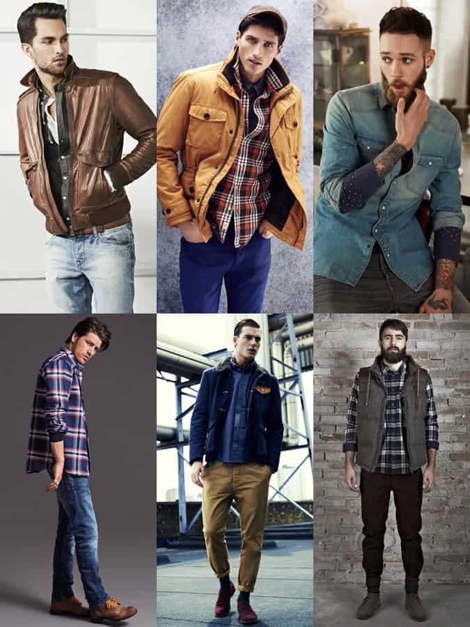 Men's Thick Winter Shirts Lookbook
