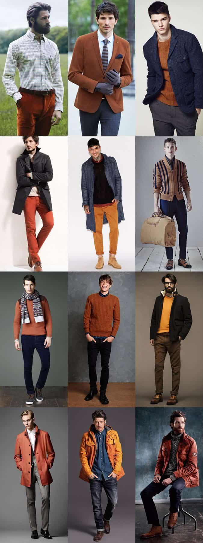 Men's Orange Outfit Inspiration