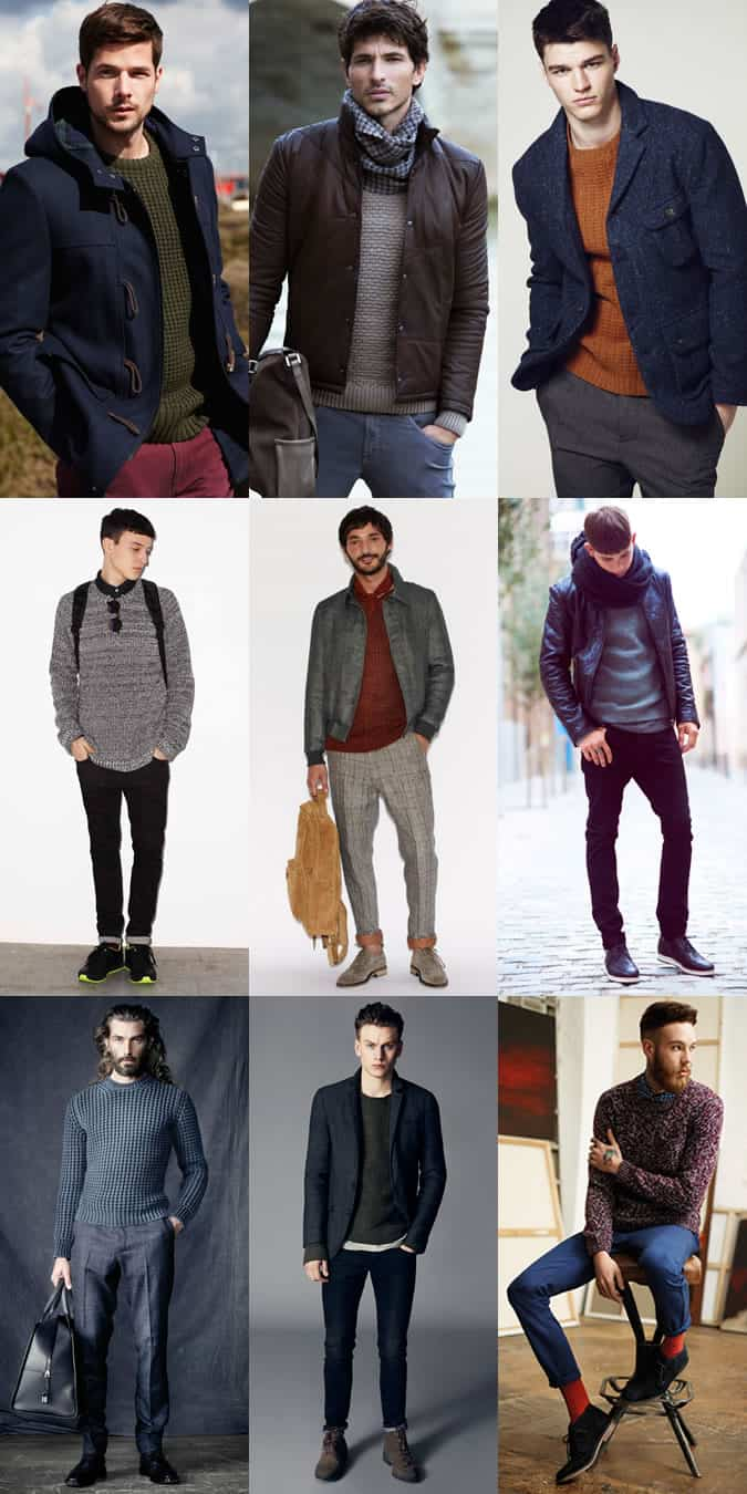 Men's Fisherman's Knit Lookbook Outfit Inspiration