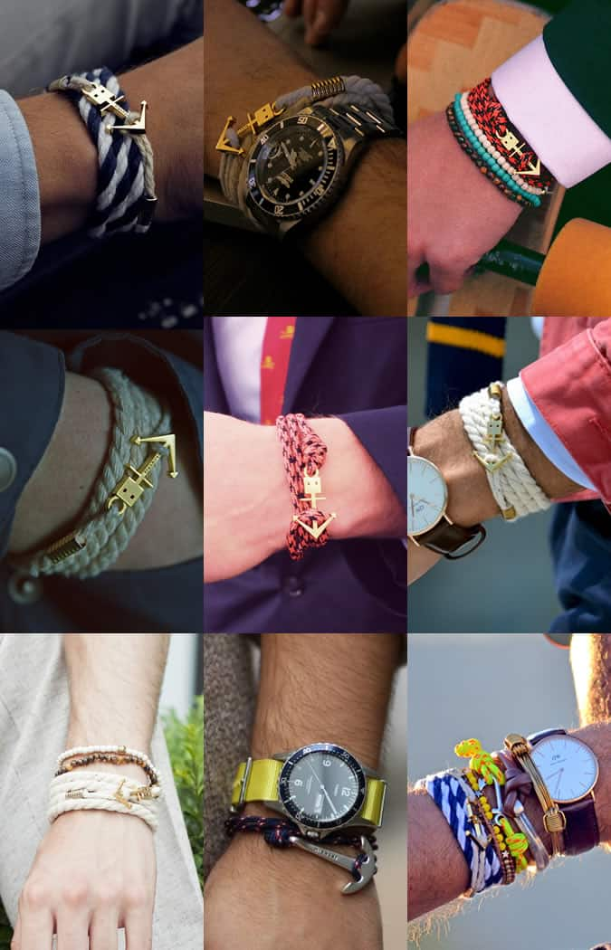 Men's Nautical-Inspired Bracelets Lookbook