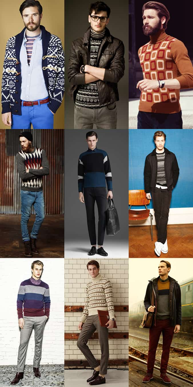 Men's Graphic and Statement Knitwear Lookbook Outfit Inspiration