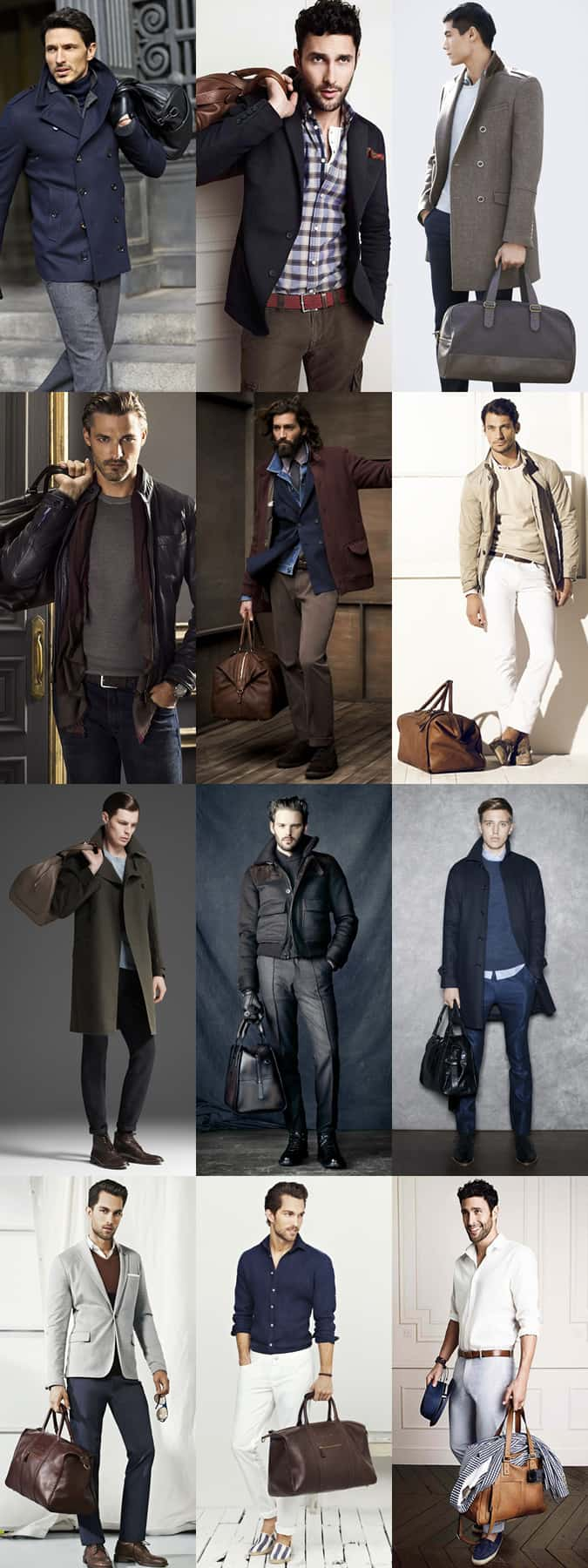 Men's Leather Holdall Lookbook