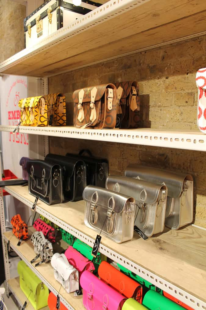 The Cambridge Satchel Company POP UP store in Spitalfields