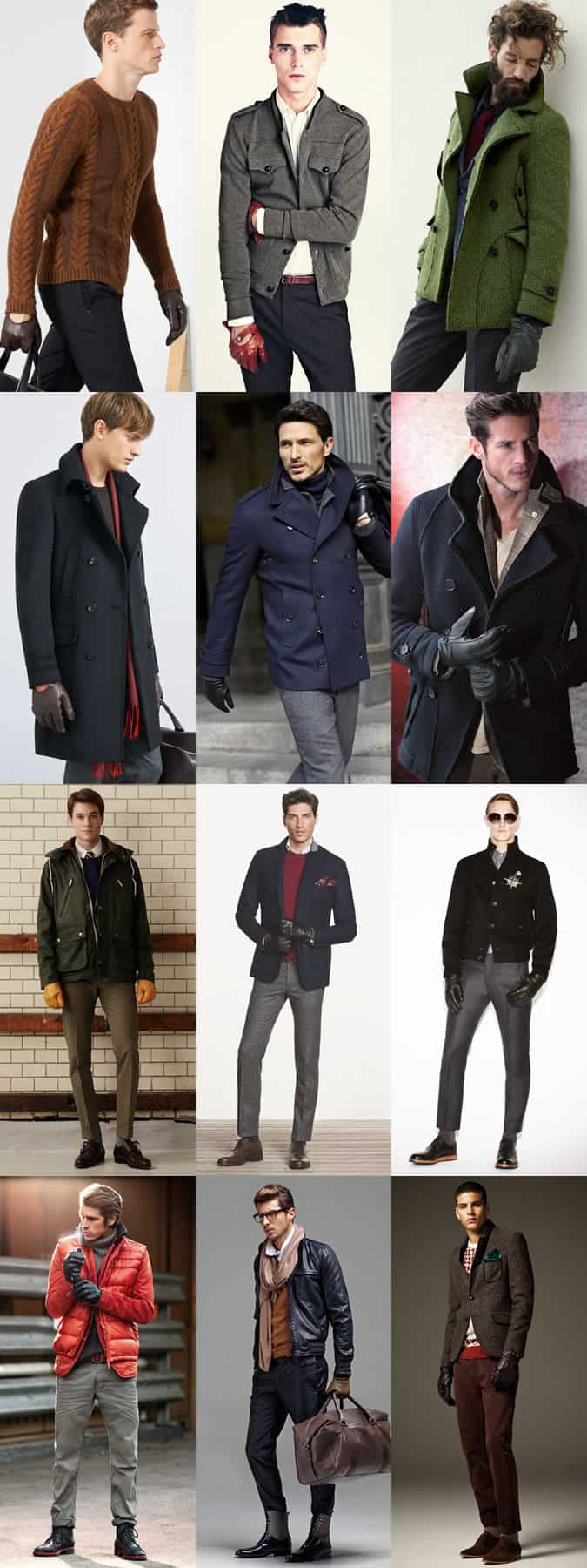 Mens leather gloves topman - Men S Leather And Driving Gloves Outfit Inspiration Lookbook