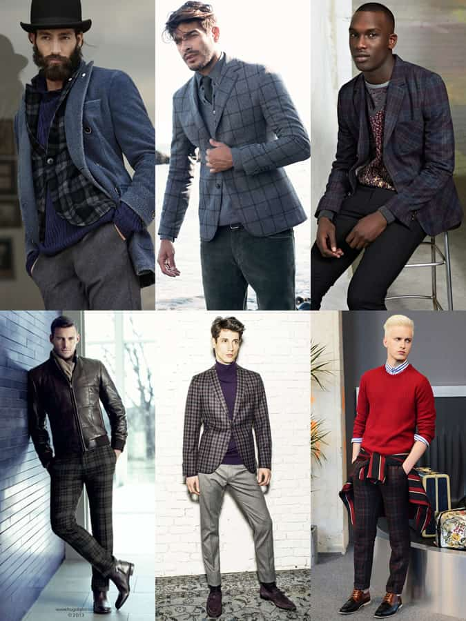 Men's Plaid/Check Outfit Inspiration Lookbook