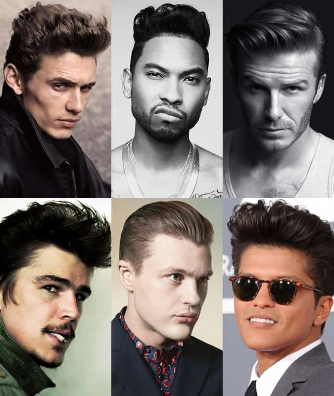 Celebrities Sporting The Pompadour Hairstyle