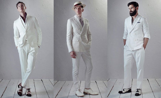 Berluti All-White Outfits: SS14 Menswear Collection