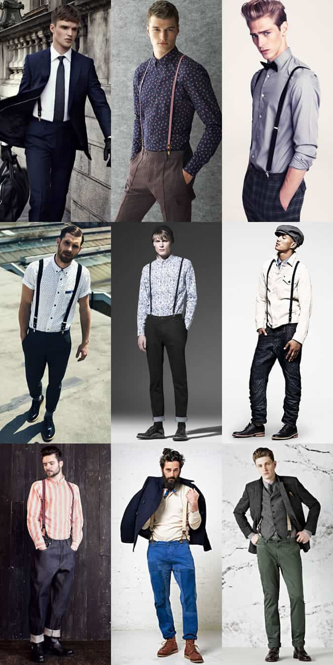 Men's Braces and Suspenders Lookbook