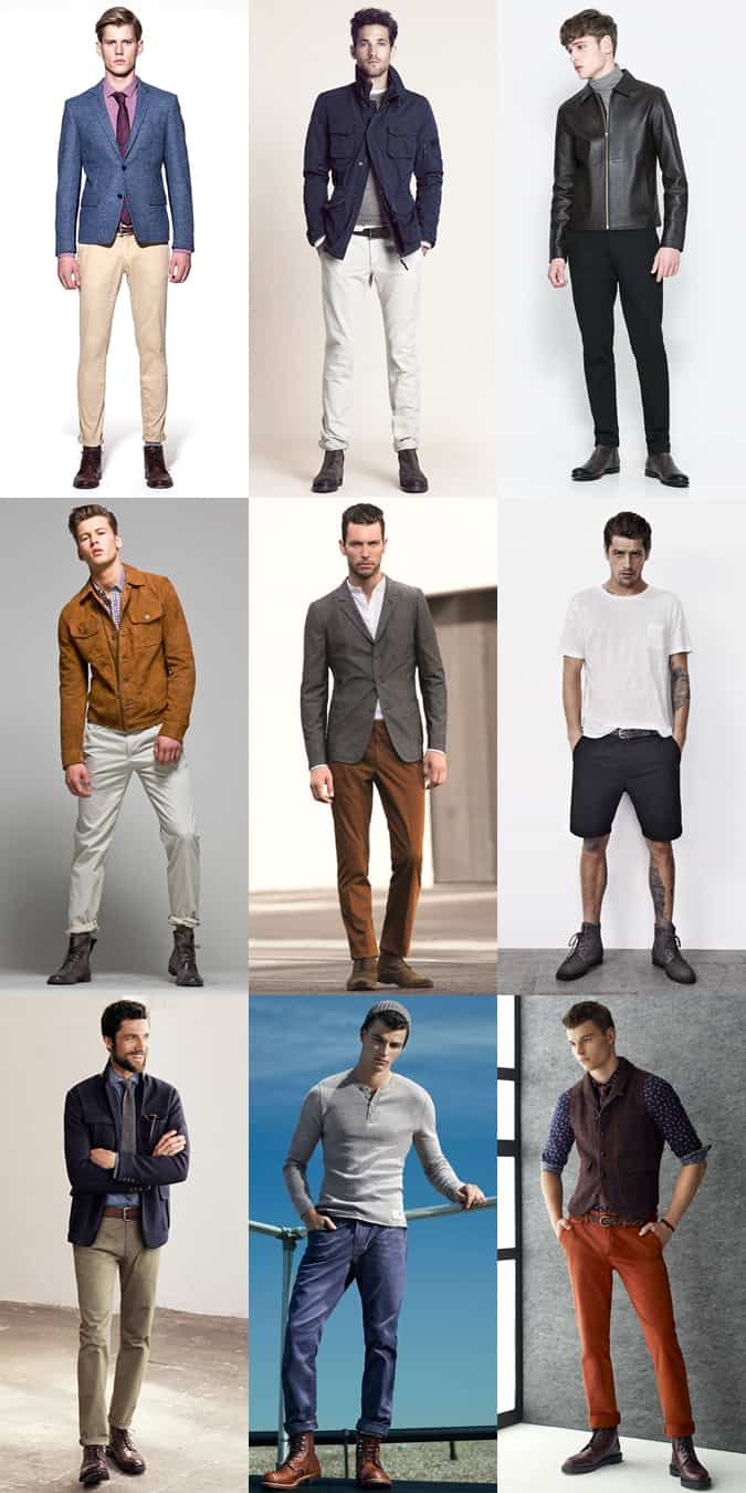 Wearing Men's Winter Boots In Spring/Summer - Outfit Lookbook Inspiration