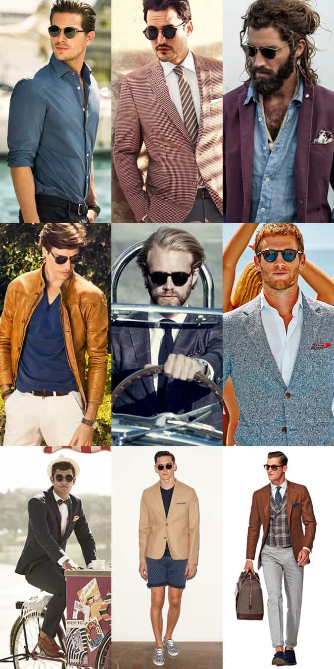 Men's Round Frame Sunglasses Lookbook