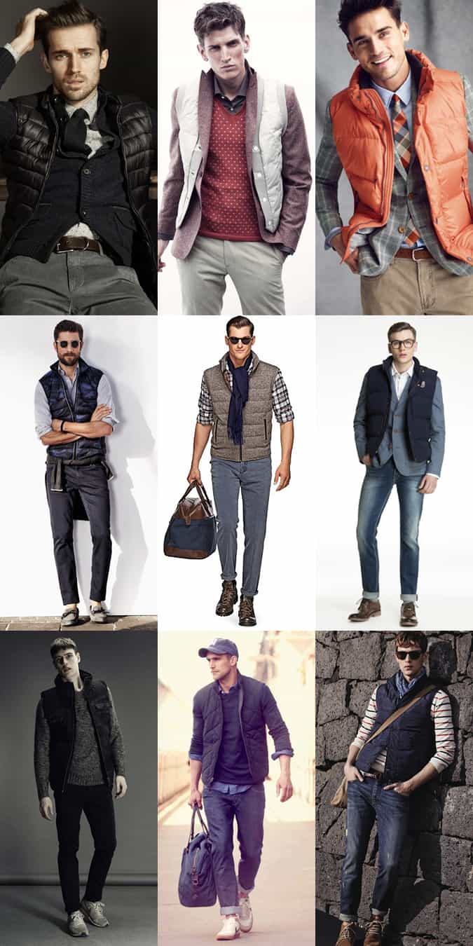 Men's Gilets - Transitional Season Outfit Inspiration Lookbook