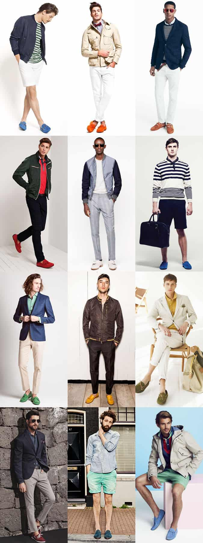 Men's Colour-Pop Slip-On Shoes and Loafers Outfit Inspiration Lookbook