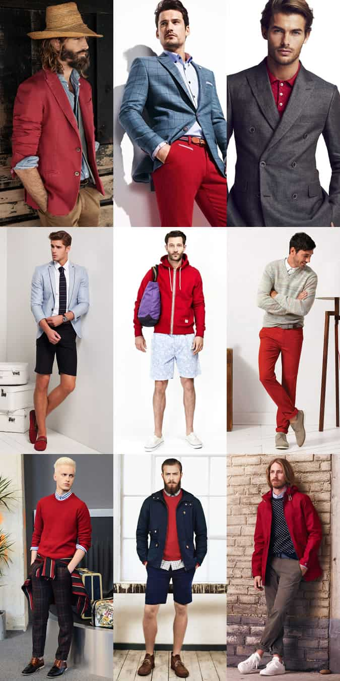 Men's Red Outfit Inspiration Lookbook