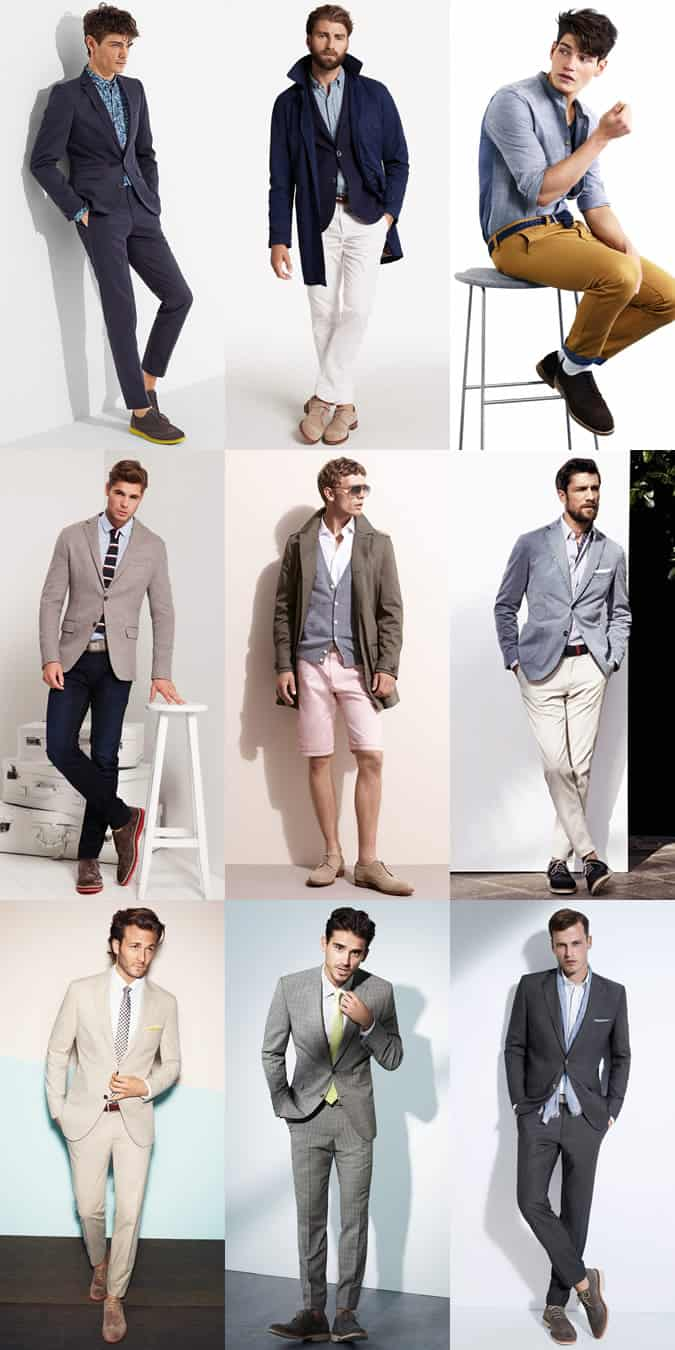 Men's Suede Brogues Outfit Inspiration Lookbook