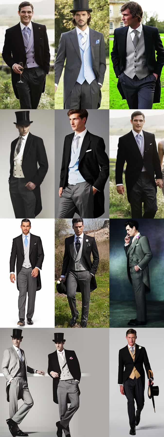 Men's Morning Coats and Tails Outfit Inspiration Lookbook
