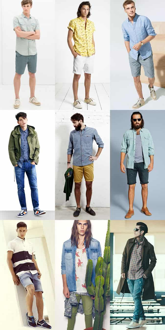 Men's Festival Outfit Inspiration - Short and Long Sleeve Shirts Lookbook
