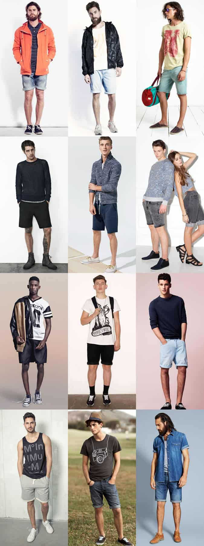 Men's Festival Outfit Inspiration - Denim Shorts and Sweat Shorts Lookbook