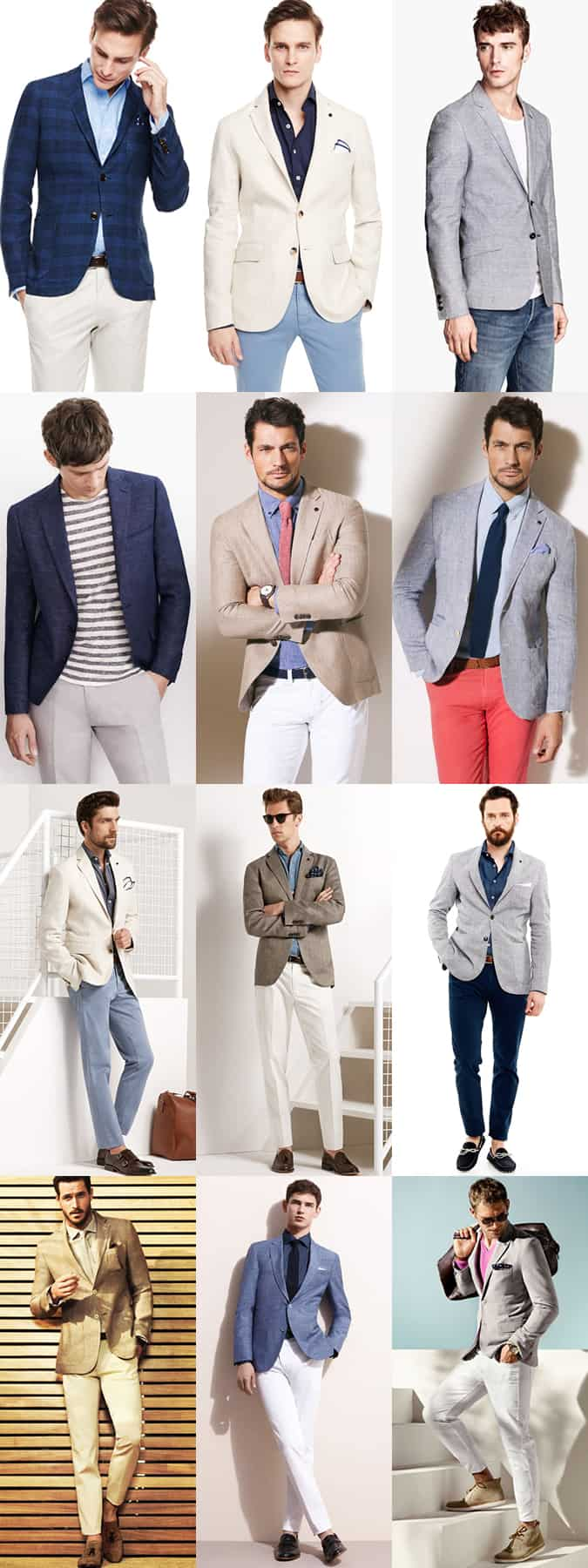 Men's Linen Blazer Smart-Casual Outfit Inspiration Lookbook