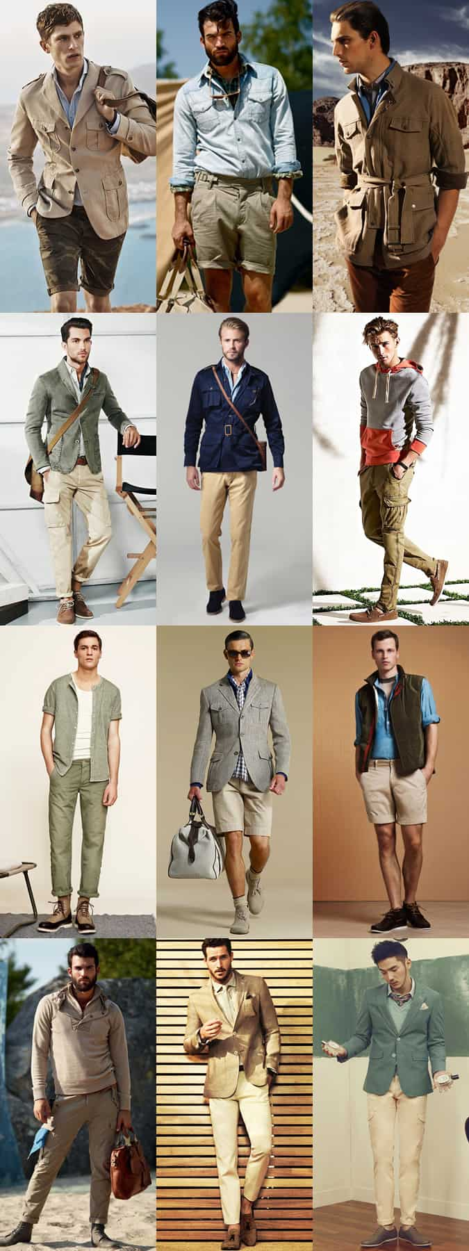 Men's Safari Inspired Shorts and Trousers - Outfit Inspiration Lookbook