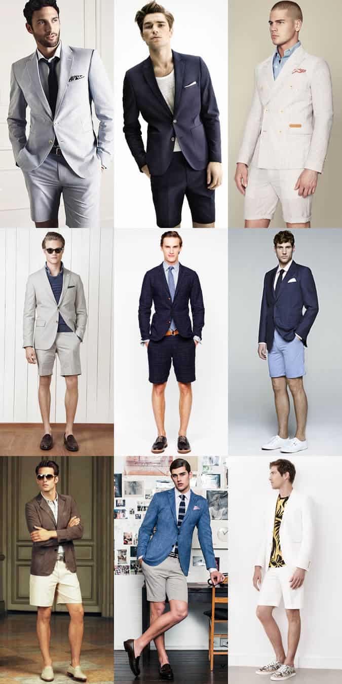 Men's Short Suits and Short Separates Outfit Inspiration Lookbook