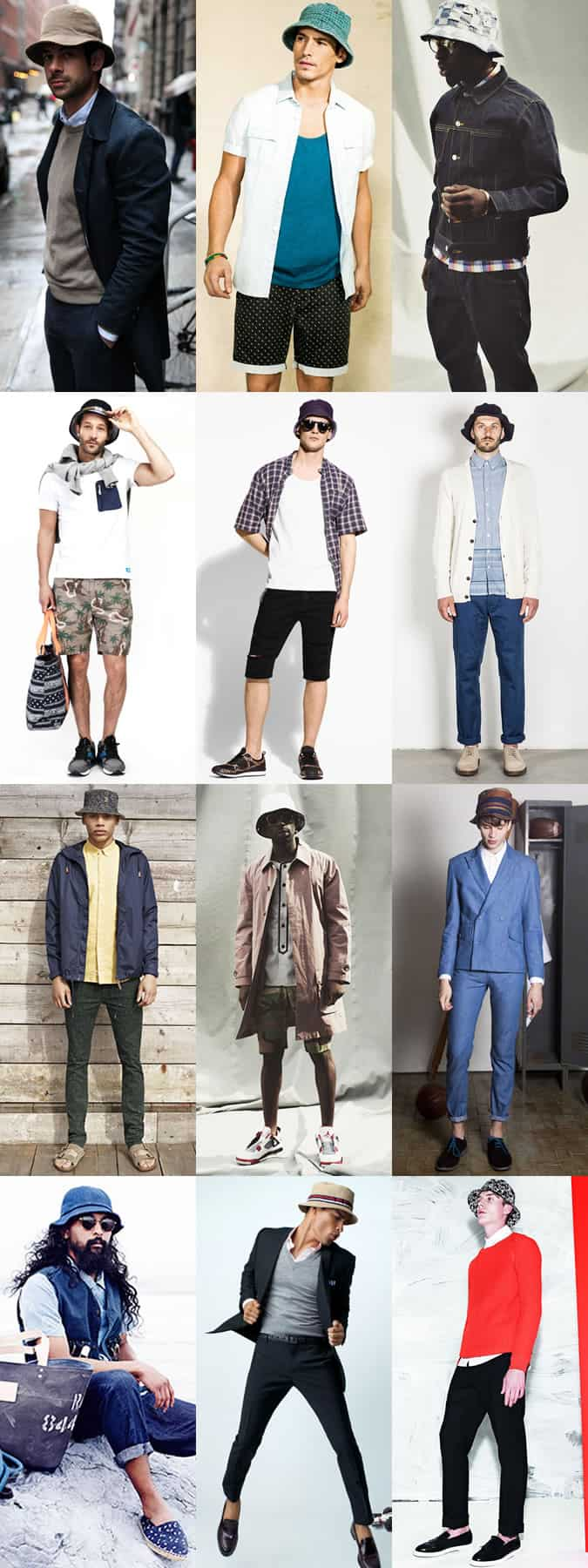 Men's Bucket Hat Summer Outfit Inspiration Lookbook