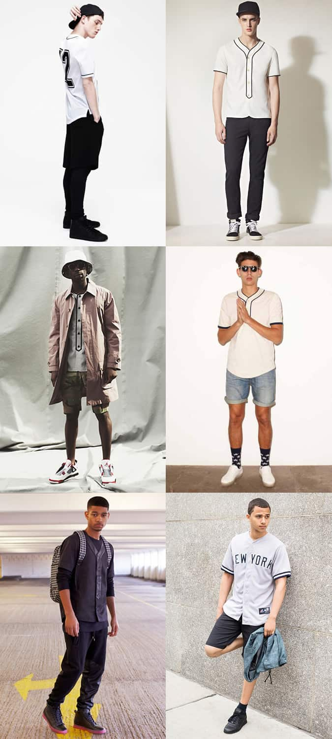 Men's Baseball Tops Outfit Inspiration Lookbook