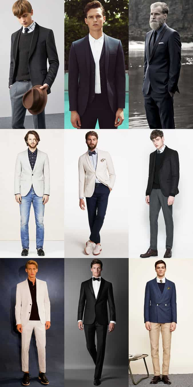 Men's Shawl-Lapelled Blazers & Suits Outfit Inspiration Lookbook
