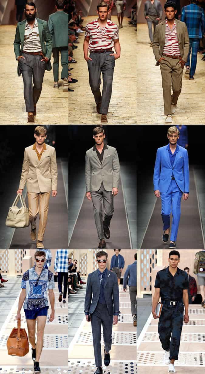 Men's Cuban Collar Shirts on The SS14 Menswear Runways