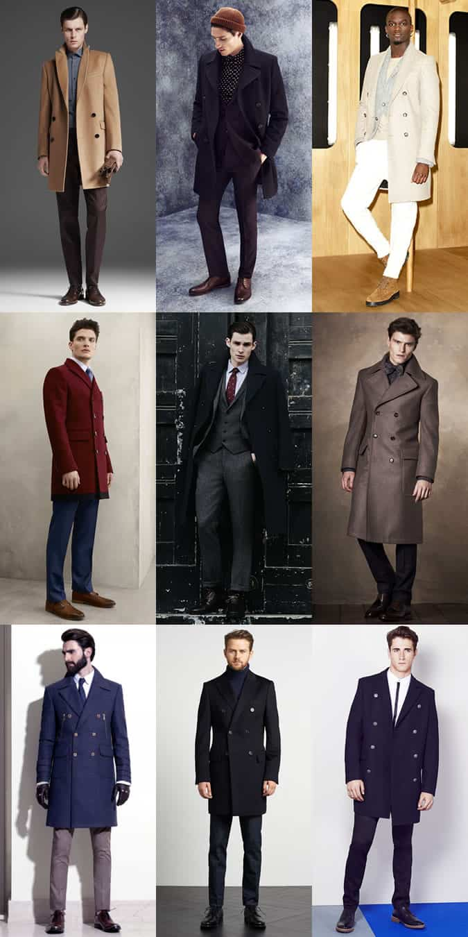 Men's Double-Breasted Overcoats Outfit Inspiration Lookbook